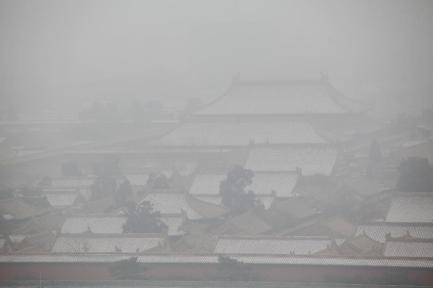 The Forbidden City on a smoggy day © Wang Shen/Xinhua