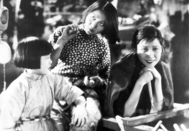 The two emblematic actresses of the silent era, Li Lili (center) and Ruan Lingyu (right) in Little Toys (Sun Yu, 1933) ; image via www.silentfilm.org