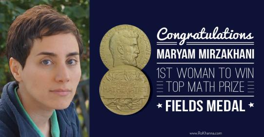 Maryam Mirzakhani, who is the first woman to have received the Fields Medal © Ro Khanna