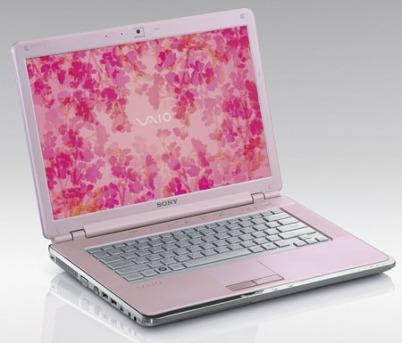 Sony Vaio's pink computer for ladies