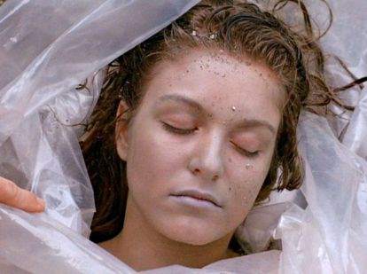 Laura Palmer as we first see her in the Twin Peaks pilot