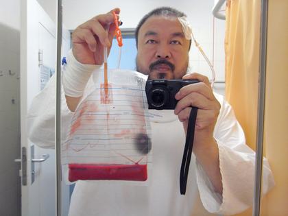 ai weiwei hospital self portrait police