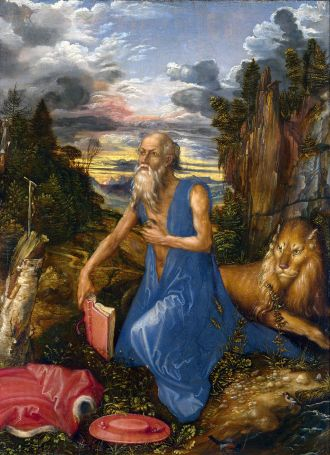 albrecht durer st jerome in the wilderness ascetic penance