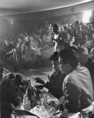 Cafe Society audience Billy Holliday