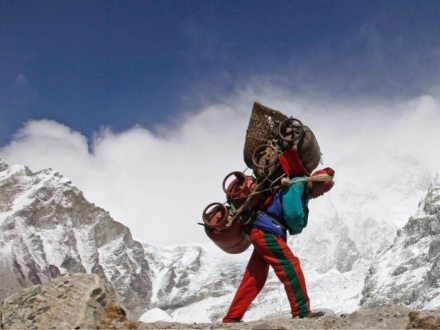 sherpas everest carrying