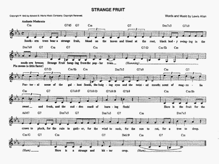 Strange Fruit music chart