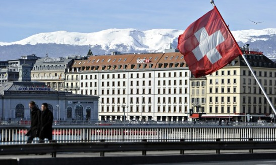 The Swiss offices of HSBC in Geneva. Image ©Harold Cunningham/Getty Images