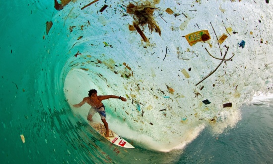 Wave surfer Java garbage trash