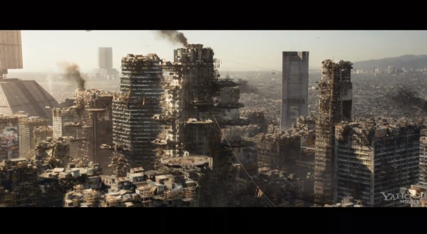 The over-crowded and apocalyptic Earth in Elysium (Neill Blomkamp, 2013). Image ©Sony Pictures