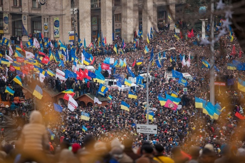 The Euromaidan protests of 2014. ©Nessa Gnatoush/Wikipedia