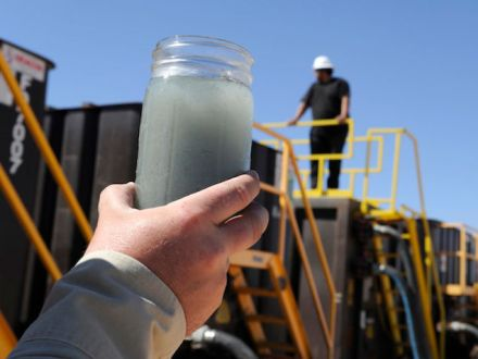 Wastewater from fracking. Image © AP via Huffington Post