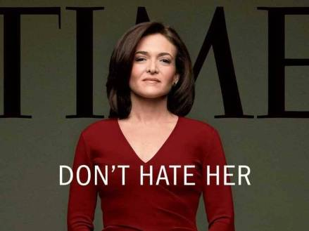 Sheryl Sandberg, Facebook's COO, on the cover of March 2013's issue of Time Magazine.