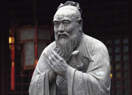 A statue of master Kong, the philosopher behind Confucianism. Image via SDSU