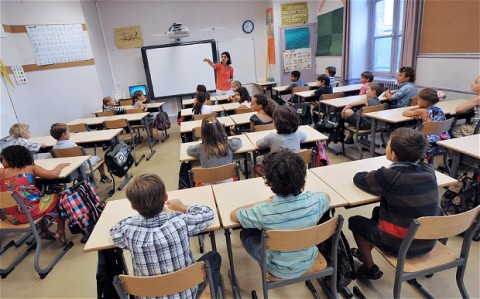 Inside a French classroom. Image © AFP.
