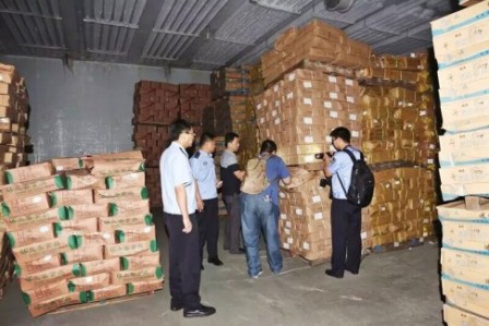 Officials seize tons of trafficked meat packages, many of them expired or which were frozen, defrozen, refrozen… Picture via SCMP.com
