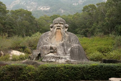 A statue of Laozi, whose teachings are at the root of Daoism. Image via ericgerlach.com