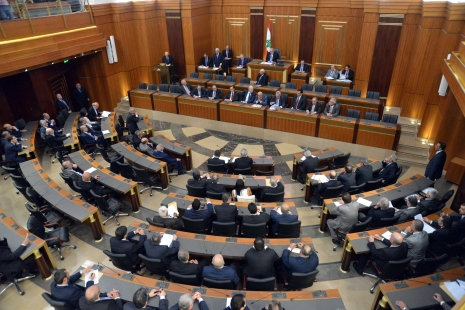 Inside the Lebanese Parliament. Image via Lebanese Examiner.-