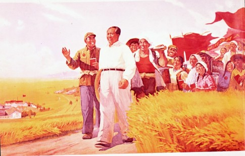 mao zedong peasants china agriculture propaganda poster