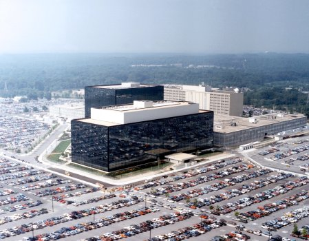 NSA headquarters in Fort Meade, Maryland. (Public domain image.)
