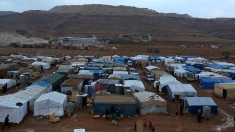 A Syrian refugee camp in Lebanon. Image via SyrianRefugees.eu.