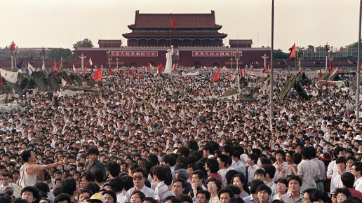 The demonstrations on Tiananmen square that lasted from April to June 1989 were brutally quelled by the government. © AFP PHOTO / FILES / CATHERINE HENRIETTE