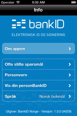 bankID 1.0.