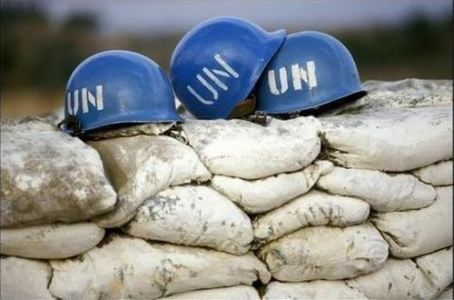 UN blue helmets peacekeeping