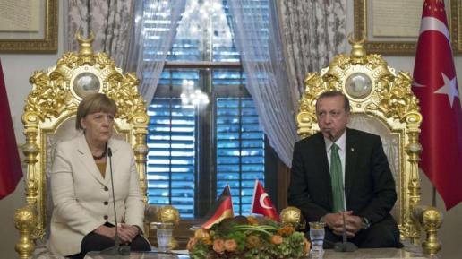 Angela Merket meets with Recep Tayyip Erdogan. ©AFP
