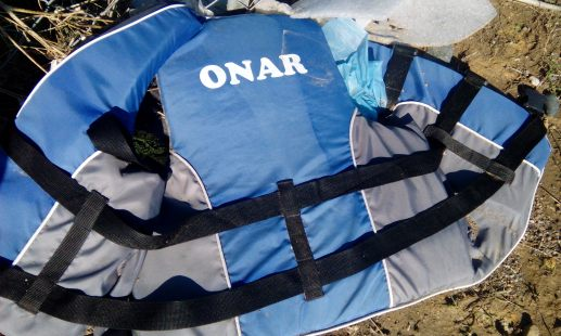 An abandoned life jacket.