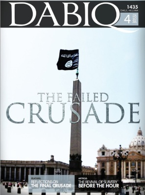 Cover of Daesh's English-speaking magazine Dabiq. Image via IBT.