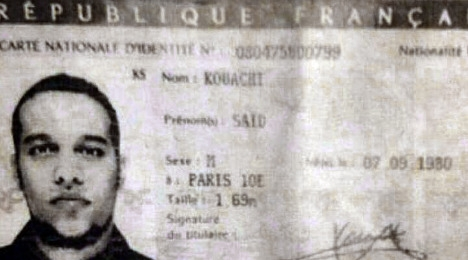 French identity card of Said Kouachi, one of the Charlie Hebdo terrorists. Image © AFP via The Local.