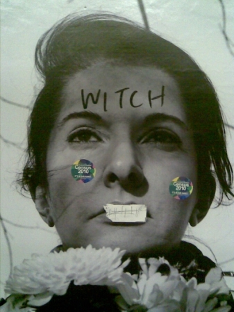 marina abramovic witch poster