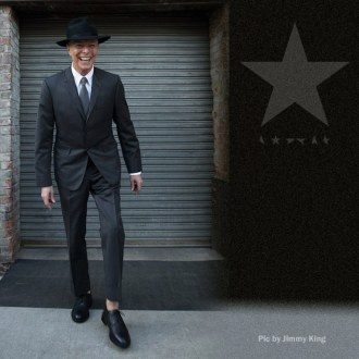 The face of a happy man - last known photo of David Bowie as shot by Jimmy King, image via Consequence of Sound.