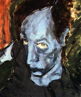 "Bowie's ""Portrait of JO"" - you may recognize ""JO"" as Iggy Pop. Image via TeenageWildlife."