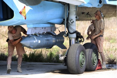 Russian military support in Syria. Image © Alexander Kots/AP/Corbis via New York Mag