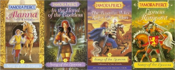 book covers song of the lioness tamora pierce